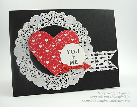 Stampin' Up! Occasions Catalog Swap cards share by Dawn Olchefske, #dostamping #love (Georgia Giguere)