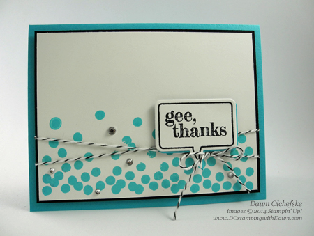 Dotty Angles Word Bubble Card created by Dawn Olchefske, #dostamping #stampinup