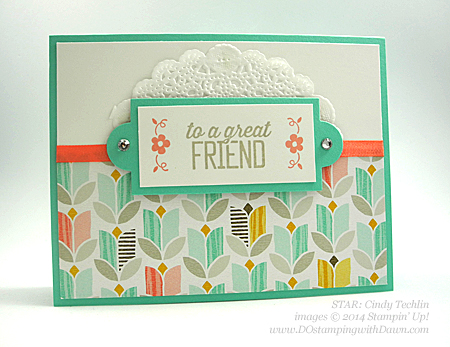 Sale-a-Bration Best Year Ever DSP Swaps shared by Dawn Olchefske #dostamping #stampinup (Cindy Techlin)