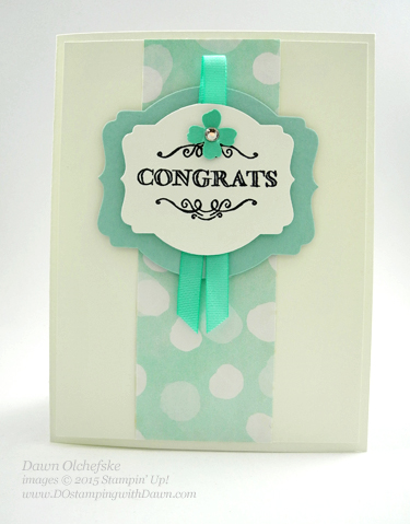 SAB Simply Wonderful card created by Dawn Olchefske #dostamping #stampinup