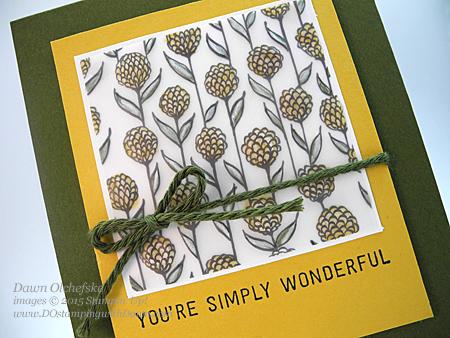 Altered Sheer Perfection Vellum Sale-a-Bration Card shared by Dawn Olchefske for DOstamperSTARS Thursday Challenge DSC#124 #dostamping #stampinup