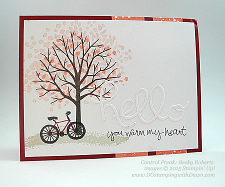 2015 Occasions Sheltering Tree swaps share by Dawn Olchefske #dostamping #stampinup (Becky Roberts)