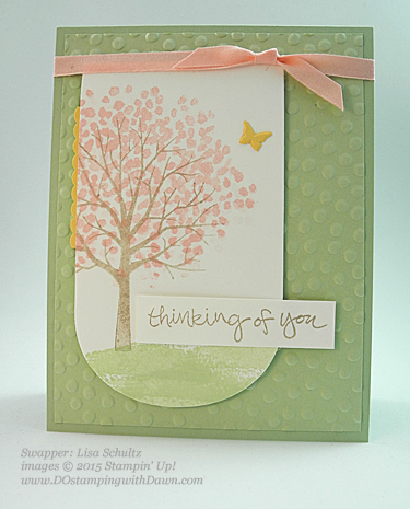 2015 Occasions Sheltering Tree swaps share by Dawn Olchefske #dostamping #stampinup (Lisa Schultz)