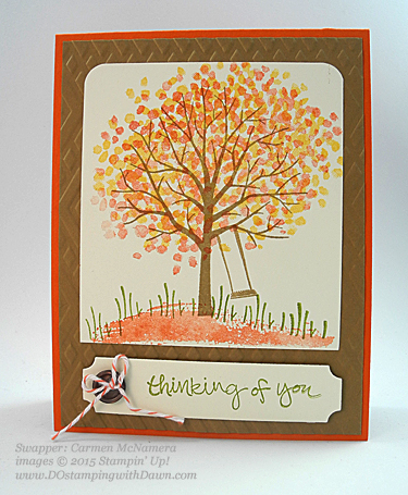 2015 Occasions Sheltering Tree swaps share by Dawn Olchefske #dostamping #stampinup (Carmen McNamera)