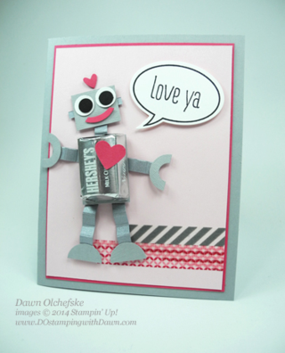 Robot Punch Art card with Washi Tape created by Dawn Olchefske #dostamping #stampinup
