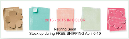2013-2015 In Colors retiring April 21st! #dostamping #stampinup