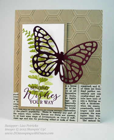 Butterflies Bundle swap cards shared by Dawn Olchefske #dostamping #stampinup (Lisa Petricka)