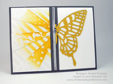 Butterflies Bundle swap cards shared by Dawn Olchefske #dostamping #stampinup (Rachel Tessman)