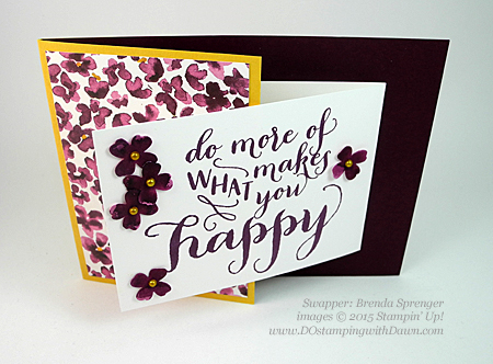 Painted Petals swaps shared by Dawn Olchefske #dostamping #stampinup (Brenda Sprenger)