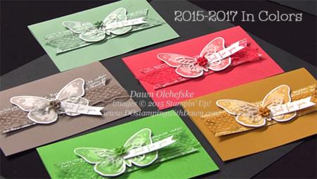 2015-2017 In Color Sneak Peek shared by Dawn Olchefske #dostamping #stampinup