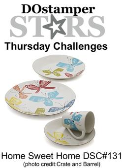 DOstamperSTARS Thursday Home Sweet Home Challenge DSC#131