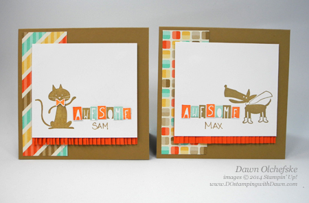 Cool Kids cards shared by Dawn Olchefske #dostamping #stampinup