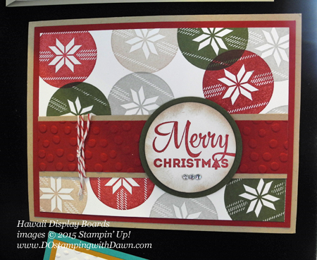 Lots of Joy Display Board Samples from Hawaii Incentive Trip shared by Dawn Olchefske #dostamping #2015AnnualCatalog