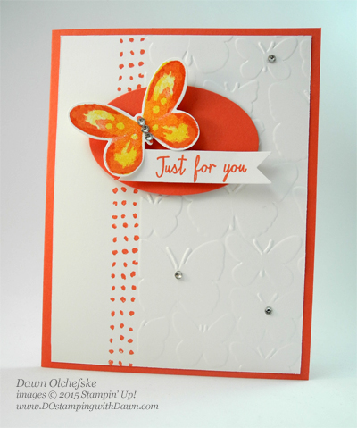 New Watercolor Wings card by Dawn Olchefske for DOstamperSTARS Thursday Challenge #136 #dostamping #stampinup