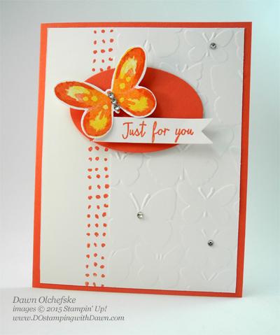 New Watercolor Wings card by Dawn Olchefske for DOstamperSTARS Thursday Challenge #136 #dostamping #stampinup