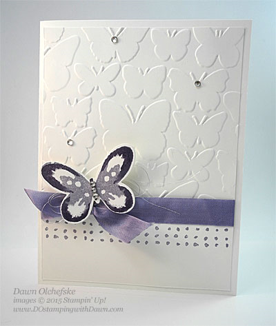 Watercolor Wings Tunnel card Fun Fold HSDT video series by Dawn Olchefske #dostamping #stampinup