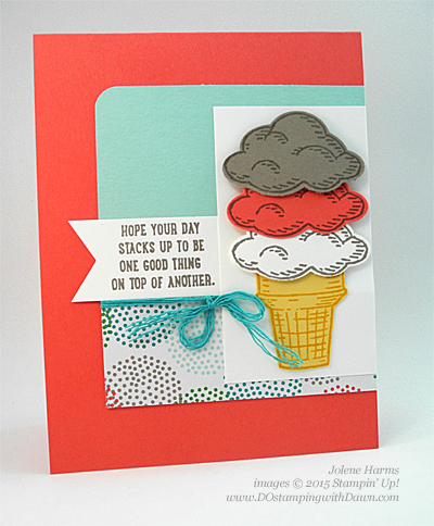 Sprinkles of Life & Tree Builder Punch card shared by Dawn Olchefske #dostamping #stampinup (Jolene Harms swap)