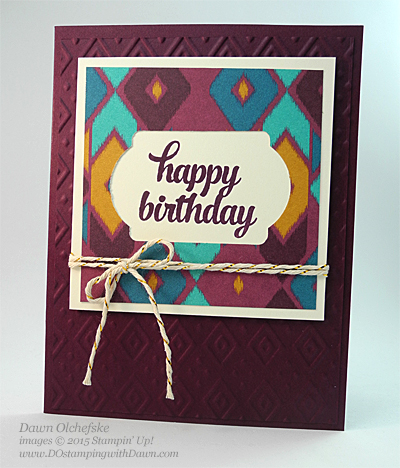 Bohemian DSP with Tin of Cards greeting by Dawn Olchefske for DOstamperSTARS Thursday Challenge #138 #dostamping #stampinup
