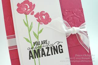 Spring Flowers Texture Folder card by Dawn Olchefske #dostamping #stampinup