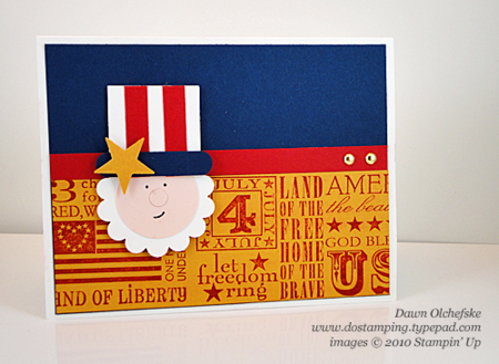 Uncle Sam Punch Art card by Dawn Olchefske #dostamping #stampinup