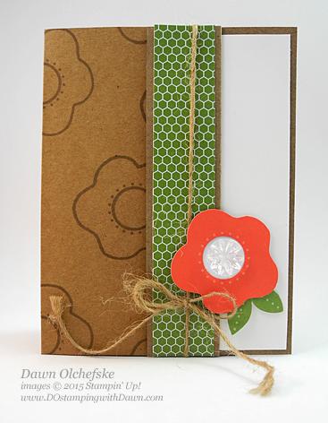 June 2015 Paper Pumpkin Pocket Card alternate idea by Dawn Olchefske  #dostamping #stampinup