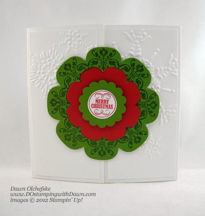 Interlocking Floral Framelits Shared by Dawn Olchefske #dostamping #stampinup
