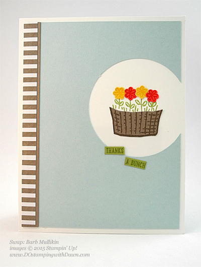Sprinkles of Life swaps cards shared by Dawn Olchefske #dostamping #stampinup, Barb Mullikin