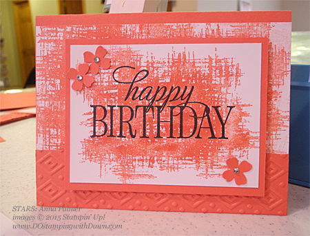 STARS Happy Birthday, Everyone swap card shared by Dawn Olchefske #dostamping #stampinup Anna Palmer