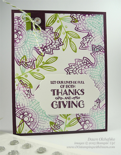 Lighthearted LeavesControl Freaks Blog Tour August 2015 Holiday Catalog projects by Dawn Olchefske #dostamping #stampinup