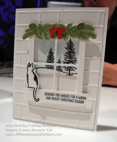 Festive Fireside Bundle 2015 Holiday Catalog convention samples shared by Dawn Olchefske #dostamping #stampinup