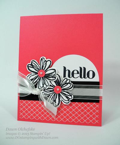 Flower Shop Card Shared by Dawn Olchefske #dostamping #stampinup