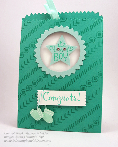 Sweet Li'l One swap, Mini Treat Bag shared by Dawn Olchefske #dostamping #stampinup (by Stephanie Leider)