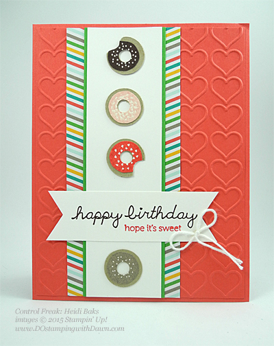 Sprinkles on Top swap card shared by Dawn Olchefske #dostamping #stampinup (by Heidi Baks)