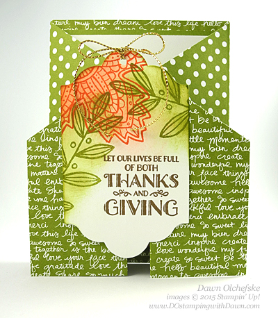 Lighthearted Leaves Gate Fold Card shared by Dawn Olchefske  #dostamping #stampinup