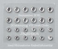NEW Iced Rhinestones DOstamping September VIP Gift