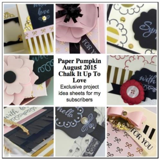 August 2015 Chalk it Up to Love Paper Pumpkin alternate ideas by Dawn Olchefske  #dostamping #stampinup