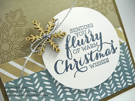 Flurry of Wishes card shared by Dawn Olchefske for DOstamperSTARS Thursday Challenge DSC#147 #dostamping #stampinup