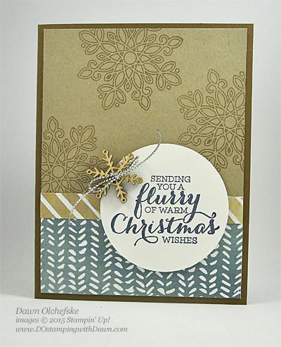 Flurry of Wishes card shared by Dawn Olchefske for DOstamperSTARS Thursday Challenge DSC#147 #dostamping #stampinup