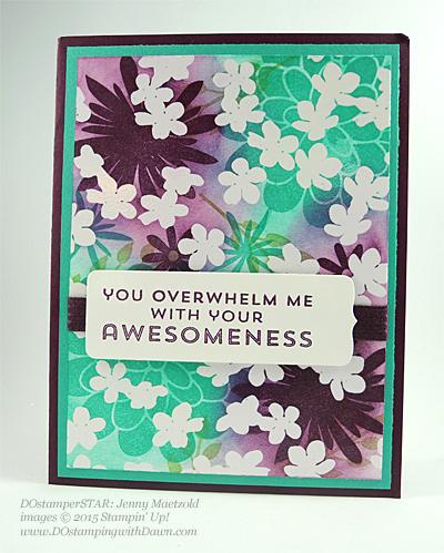 Flower Patch card shared by Dawn Olchefske #dostamping #stampinup(Jenny Maetzold)
