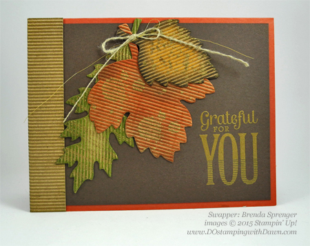 Lighthearted Leaves cards shared by Dawn Olchefske #dostamping #stampinup, Vintage Leaves (Brenda Sprenger)