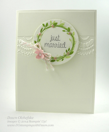 Squashed Pearl Technique shared by Dawn Olchefske #dostamping #stampinup
