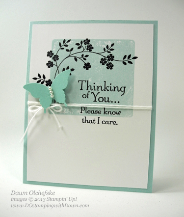 Thoughts and Prayers Card shared by Dawn Olchefske #dostamping #stampinup
