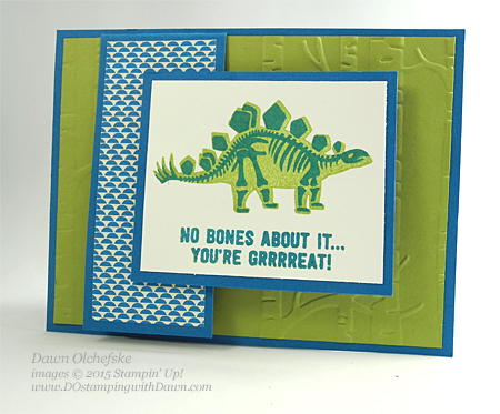 No Bones About it card shared by Dawn Olchefske for DOstamperSTARS Thursday Challenge DSC#149 #dostamping #stampinup