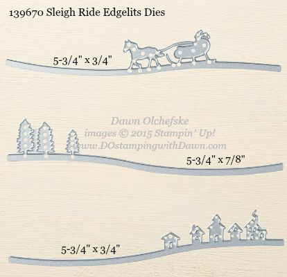 Sleigh Ride Edgelit Die sizes shared by Dawn Olchefske #dostamping #stampinup