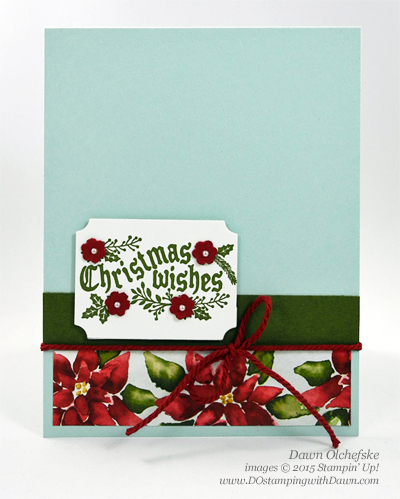 Cozy Christmas CAS card shared by Dawn Olchefske for DOstamperSTARS Thursday Challenge DSC#151 #dostamping #stampinup