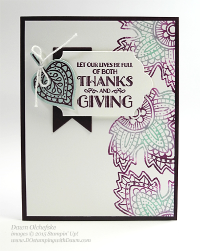 Lighthearted Leaves Baby Wipe Stamping Technique card shared by Dawn Olchefske #dostamping #stampinup
