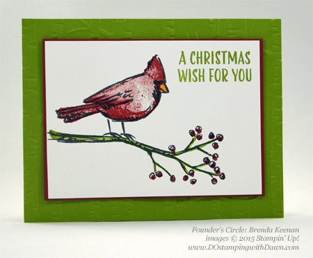 Joyful Season cards shared by Dawn Olchefske #dostamping #stampinup Brenda Keenan