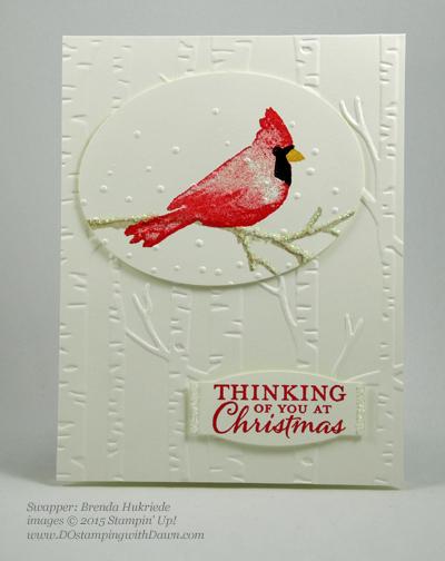 Joyful Season cards shared by Dawn Olchefske #dostamping #stampinup Brenda Hukriede