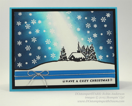 Cozy Christmas swaps cards shared by Dawn Olchefske #dostamping #stampinup (Robin Anderson)