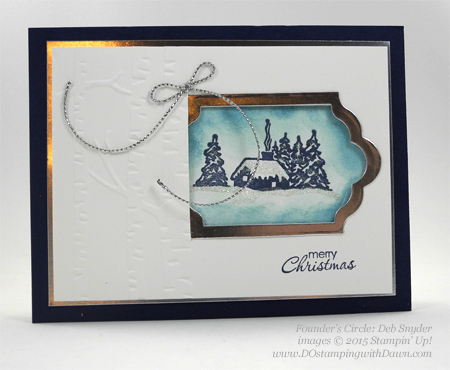 Cozy Christmas swaps cards shared by Dawn Olchefske #dostamping #stampinup (Deb Snyder)